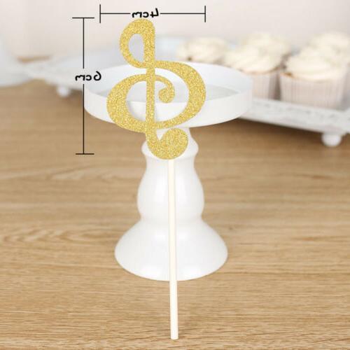 Wedding Decoration Cupcake Glitter Music Note Cake