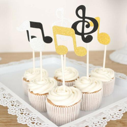 Wedding Cupcake Glitter Music Cake