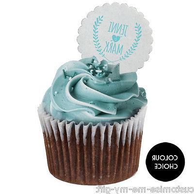 Wedding crest Personalised | Cupcake | Cake Toppers | Size C