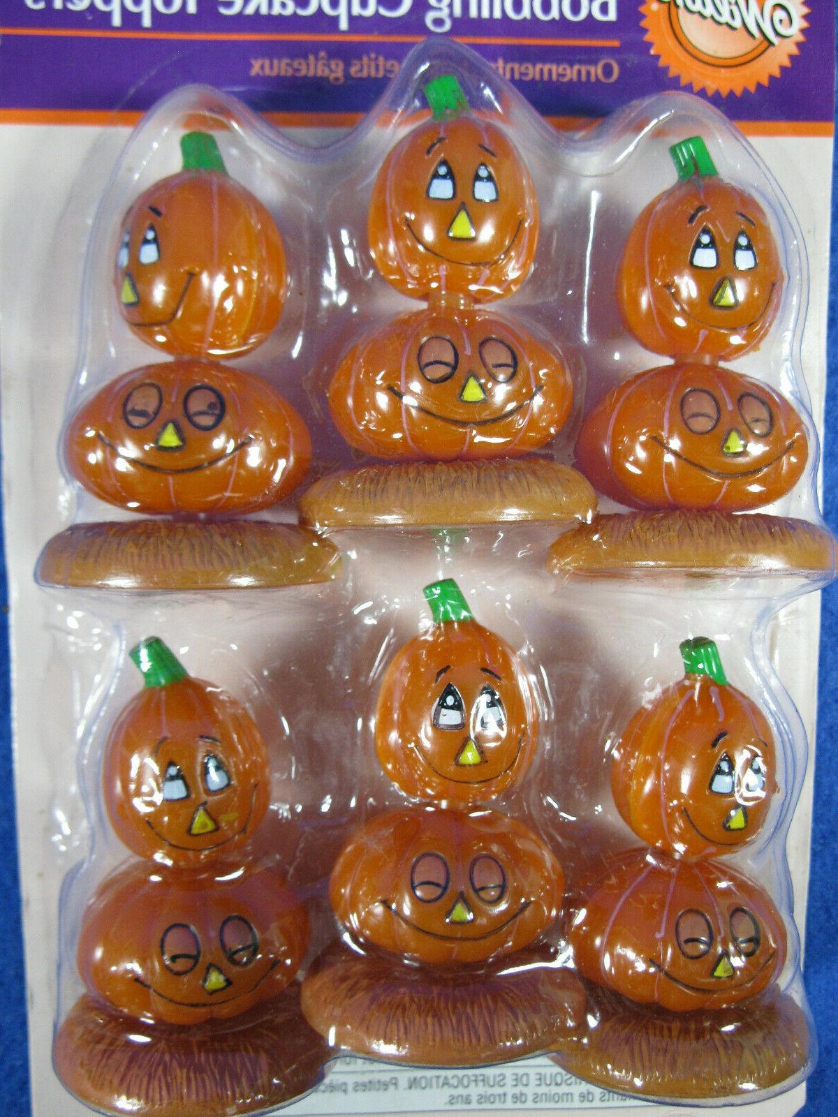 Wilton Halloween Jack-O-Lantern Toppers NIP