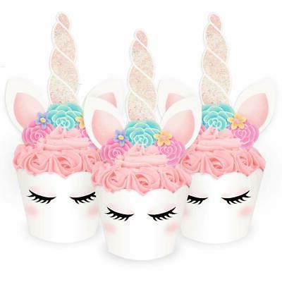 xo, Fetti Unicorn Cupcake Toppers + Wrappers   Birthday Part