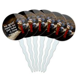 Labyrinth Worm Quote Not What They Seem Cupcake Picks Topper