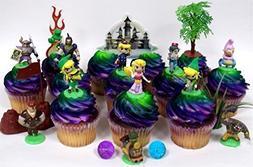 Legend of Zelda Birthday CUPCAKE Topper Set Featuring Link,