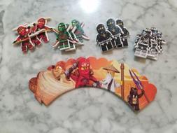 LEGO Ninjago Ninja Cupcake Toppers & Wrappers Kids Birthday