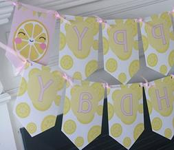 Lemonade Yellow Pink Lemon Aid Stand Banner - Matching Items