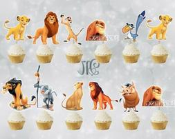 Lion King Cupcake Toppers12/24/36 Lion King Party Supplies