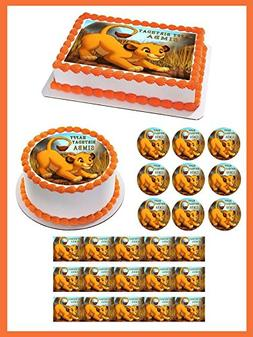 "Lion King Simba - Edible Cupcake Toppers - 1.8"" cupcake"