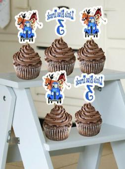 Little Blue Truck Cupcake Toppers Handmade Birthday