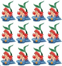Little Mermaid Princess Ariel Cupcake Toppers Edible Image