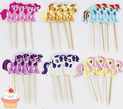 little pony cupcake toppers picks