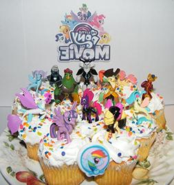 My Little Pony The Movie Deluxe Mini Cake Toppers Cupcake De
