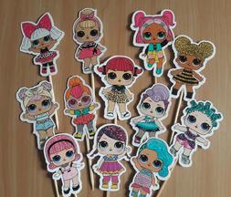 Lol Surprise Cupcake Toppers 12 or 24 pc. Birthday party sup
