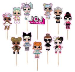 Lol Surprise Cupcake Toppers 12 or 24 pc. Lol Surprise Dolls