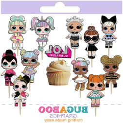 Lol Surprise Dolls Cupcake Toppers, Lol Surprise Dolls Birth