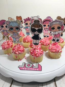 Lol Surprise Dolls Cupcake Toppers Picks Set of 24 Party Sup