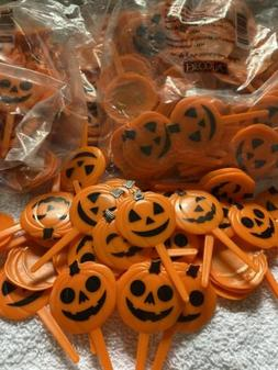 LOT OF 24 CUPCAKE DECORATIONS TOPPER PUMPKIN JACK O LANTERN