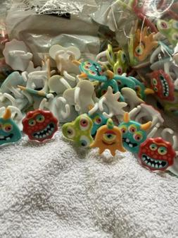 LOT OF 24 HALLOWEEN CUPCAKE DECORATIONS TOPPERS MONSTERS RIN