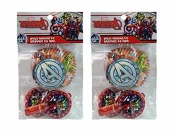 2-Pack Marvel Avengers 24 Cupcake Liners & 24 Toppers
