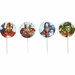 Marvel Avengers Fun Picks Cupcake Toppers - 24 Count - 2113-