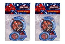 2-Pack Marvel Spider-Man 24 Cupcake Liners & 24 Toppers