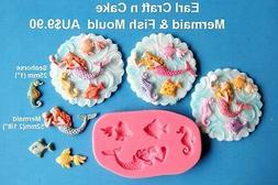 Mermaid & Fish  Silicone Mould  Cake Decorating Gum Paste Su