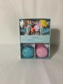 Meri Meri Mermaid Cupcake Kit 24 Cupcake Liners and Toppers