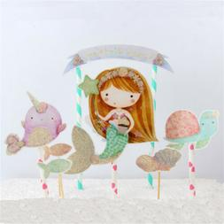 mermaid cupcake toppers baby shower for girls birthday party
