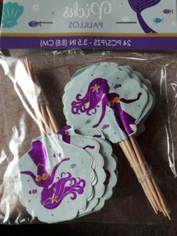 Mermaid Cupcake Toppers; Under The Sea Birthday Cupcakes; Cu