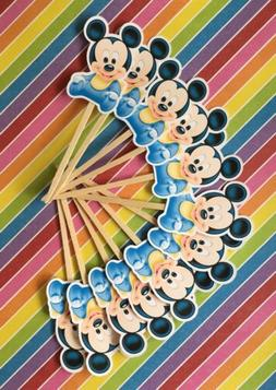 mickey mouse baby party set of 12