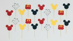 Mickey Mouse Cupcake Toppers, Colorful, Birthday & Baby Show