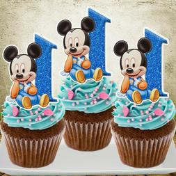 Mickey Mouse with Age Cupcake Topper