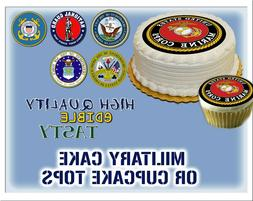 Military Cake topper Edible picture sugar navy army marine c