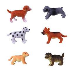 Hunson Mini Dog Figures ; Realistic Puppy Figurines; Cupcake