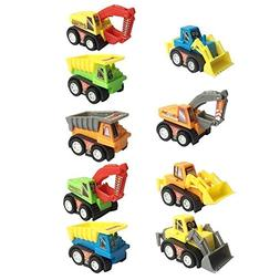 Construction Vehicles Pull Back Toy Cars Bulldoze Excavator