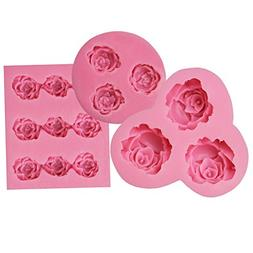 Funshowcase Mini Sizes Roses Collection Fondant Candy Silico
