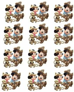 "Minnie and Mickey Cowboy Cupcake Toppers Edible Image 2"" Fro"