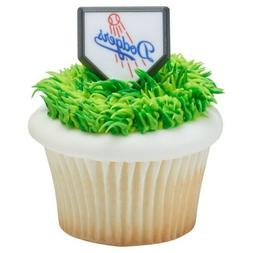 MLB Cake Toppers Los Angeles Dodgers Cupcake Rings Baseball