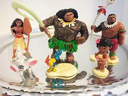 ToysOutLet_USA Moana Action Figure | 6 Pieces Set | Cake Top