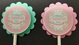 Mother's Day Cupcake Toppers Set of 24