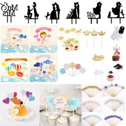 Multi-style Cake Toppers Baby Shower Birthday Party Wedding