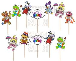 Muppet Babies Cupcake Toppers 12, 24 pc Birthday Party Suppl