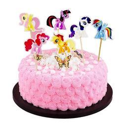 my little pony cartoon cupcake toppers picks