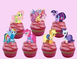 my little pony cupcake topper 14pcs