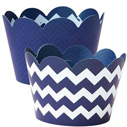 Navy Blue Cupcake Wrappers, 36   Nautical Baby Shower Party