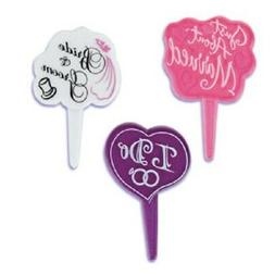 New Cake Toppers Bridal Shower Cupcake Picks One Dozen