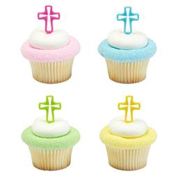 new cake toppers bright cross cupcake picks
