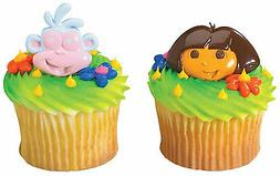 New Cake Toppers Dora the Explorer Cupcake Rings One Dozen D