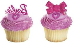 New Cake Toppers Fashion Bow Barbie Cupcake Rings One Dozen