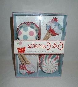 NEW Meri Meri Cute Cupcake Kit 24 pc Toppers Birthday Party