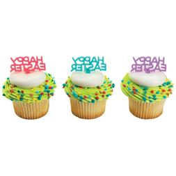 New Easter Cake Toppers Happy Easter Cupcake Picks One Dozen